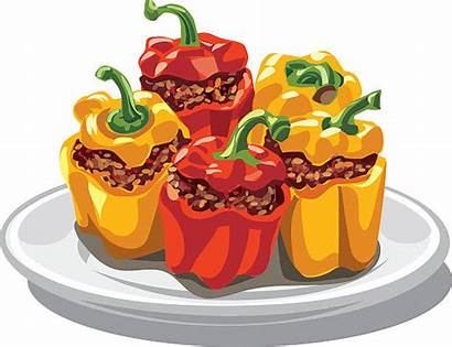 Stuffed Peppers Bell Clipart Minced Clip Illustration