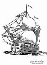 Ship Sailing Coloring Print Printcolorfun Fun sketch template