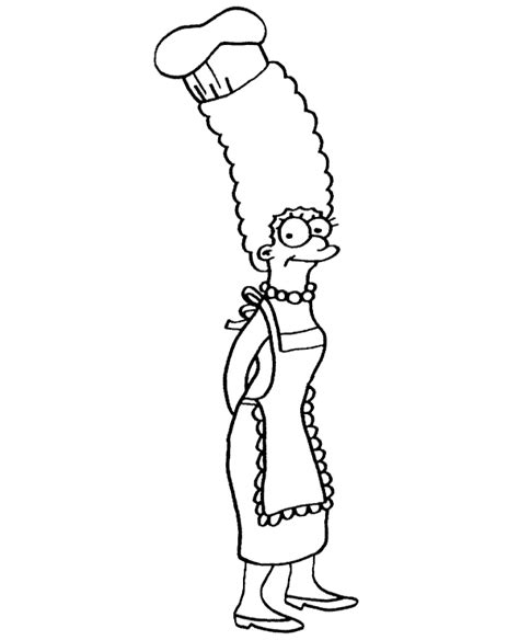 high quality marge simpson coloring page