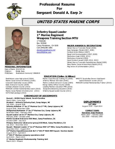 Us Army Infantry Resume by Resume