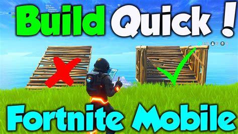 how to build in fortnite mobile fortnite