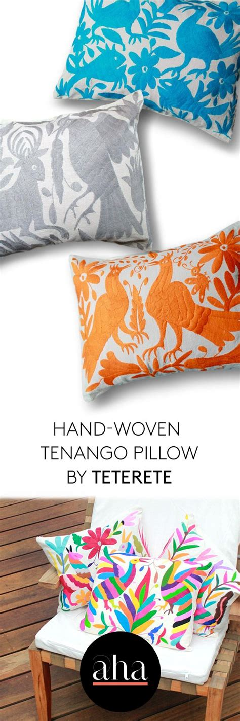 Amazing hand-woven #pillows from Mexico! Add a pop of ...