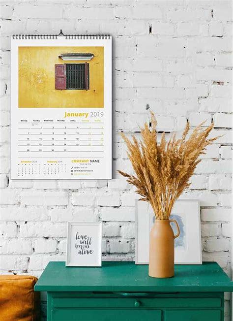 kreatif wall calendar design template psd
