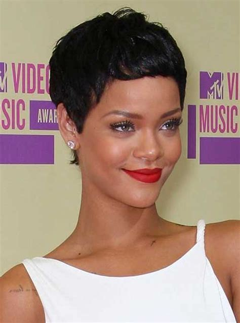 15 Best Rihanna Pixie Cuts   Short Hairstyles 2016   2017