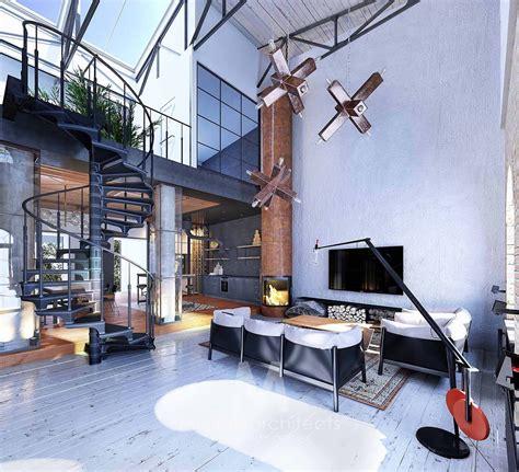 Industrial Loft Apartment In Kiev by Industrial Style Loft In Kiev Showcases Impressive Design