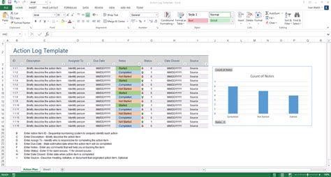 action plan template ms word  excels templates