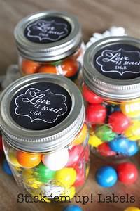 custom wedding mason jar stickers love is sweet candy buffet With custom jar stickers