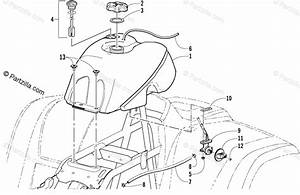 Arctic Cat Atv 2001 Oem Parts Diagram For Gas Tank Assembly  Vin E21t325087 And Up