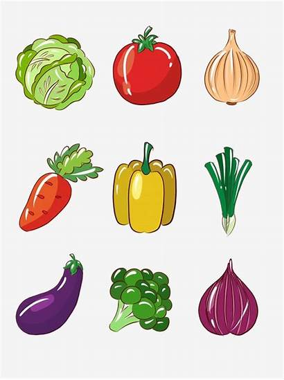 Cartoon Vegetable Fruit Simple Vegetables Fruits Dibujos