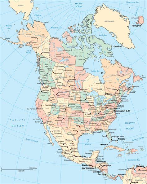 map  north america