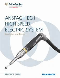 Anspach Eg1 Product Guide Oct 2014 Pdf Download