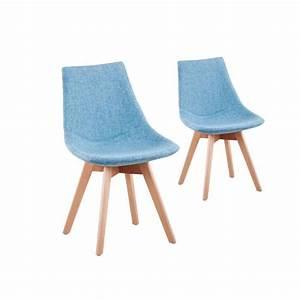 Chaise Bleu Scandinave : 2 chaises scandinave loa couleur bleu achat vente chaise bleu soldes d s le 10 ~ Teatrodelosmanantiales.com Idées de Décoration