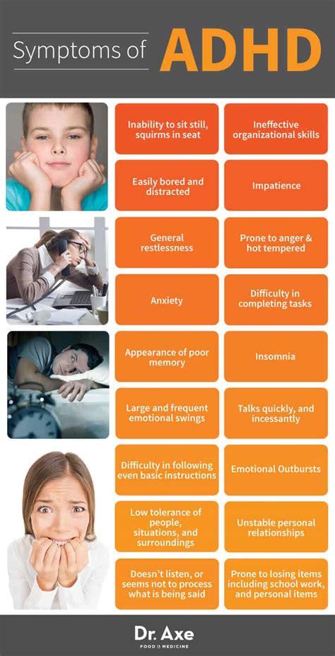 symptoms  adhd diet treatment dr axe