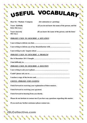 paper   vocabulary  phrases