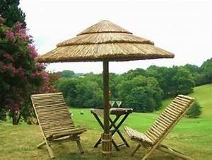 Parasol En Paille : paillote parasols environnement bois ~ Teatrodelosmanantiales.com Idées de Décoration