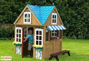 Cabane Exterieur Enfant : cabane maison d enfant en bois seaside cottage kidkraft ~ Melissatoandfro.com Idées de Décoration