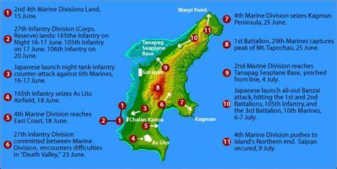 map  saipan battle points  images saipan