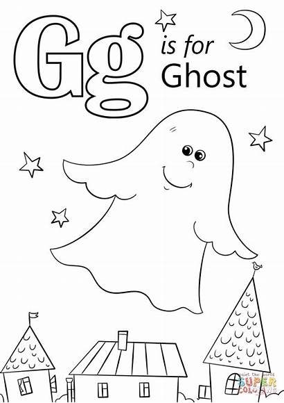 Coloring Pages Ghost Letter Printable Crafts Paper