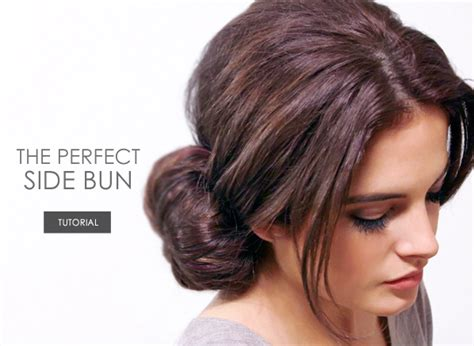 The Perfect Side Bun Tutorial