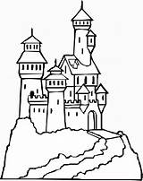 Coloring Pages Castle Printable sketch template