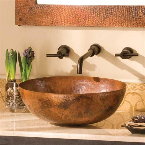 maestro oval   copper vessel bathroom sink