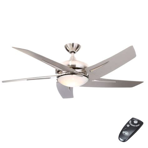 home depot ceiling fans with remote hton bay sidewinder 54 in indoor brushed nickel