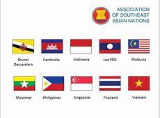 ASEAN – member countries – flags 846 Southeast Asia