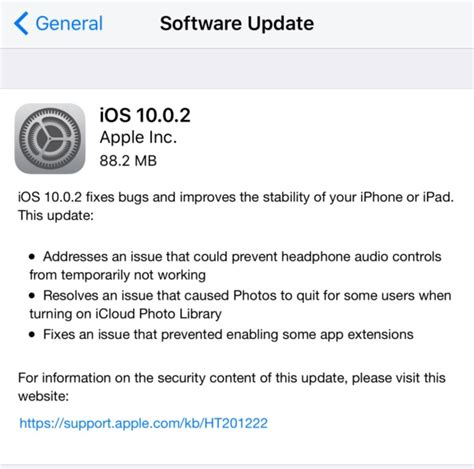 iphone software update ios 10 0 2 update released with bug fixes for iphone