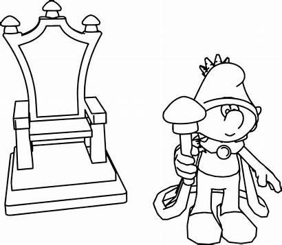 Throne King Drawing Coloring Kings Line Drawings