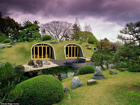 Hobbit holes by Green Magic Homes are ready made and come