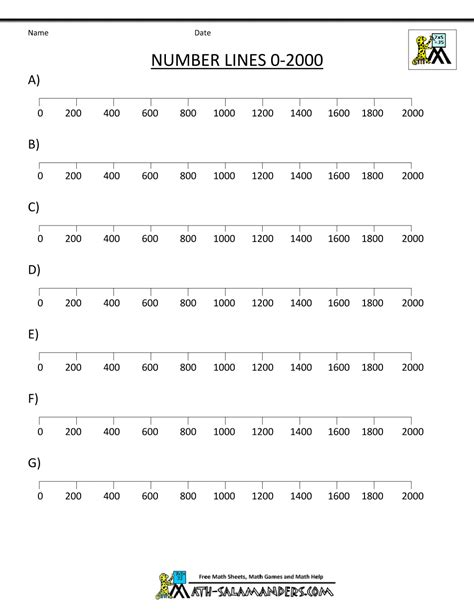 math worksheets  grade ordering numbers