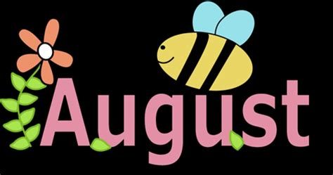 Month Of August Clipart | Free download on ClipArtMag