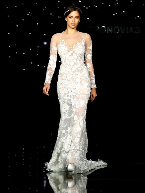 See Bradley Cooper's Girlfriend Irina Shayk in a Wedding Dress