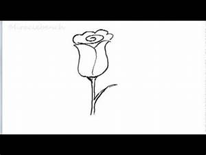 How To Draw a Rose for Kids (Very Easy For Kids) - YouTube