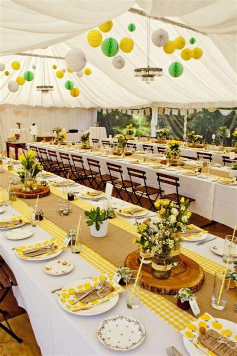 afficher limage dorigine table mariage jaune deco