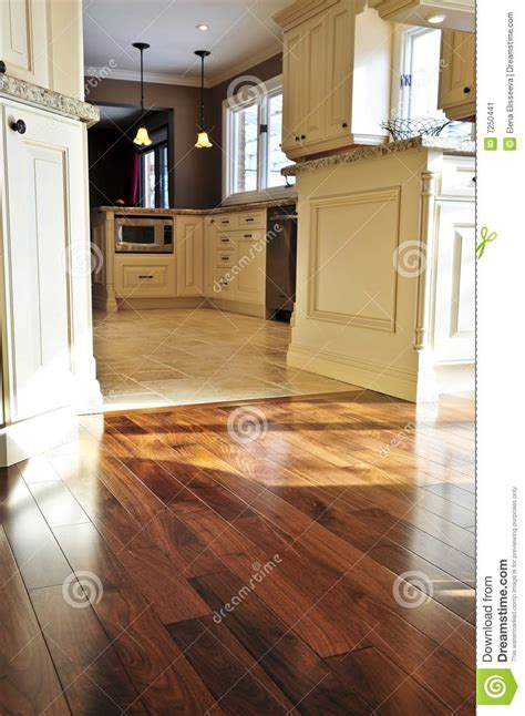 Hardwood and tile floor stock image. Image of furnishings