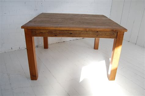 large square wooden table handmade kitchen table