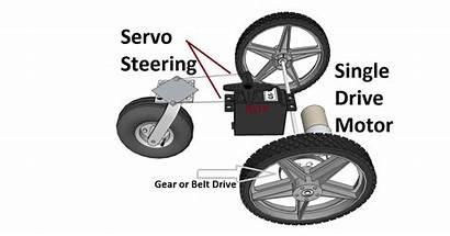 Robot Motor Drive Servo Steering Single Hub