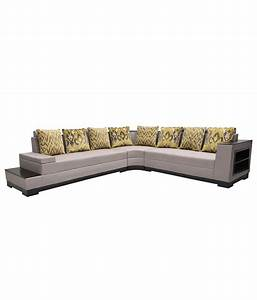 Platina 8 seater l shaped sofa buy platina 8 seater l for 8 seater sectional sofa india