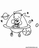 Coloring Alien Pages Aliens Ufo Solar System Spaceship Happy Colouring Space Printable Ship Characters Sheets Drawing Printables They Popular Simple sketch template