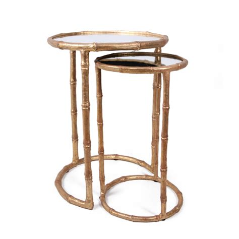ta kitchen cabinets nesting accent table antique gold furniture 2663