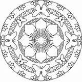 Mandala Coloring sketch template