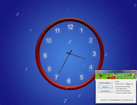 Animated Wall Clock Wallpaper - wall clock themes for desktop