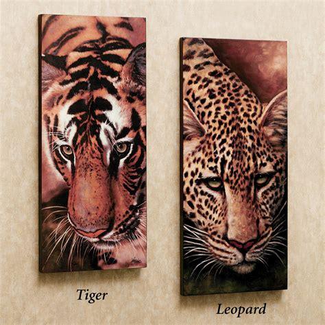 leopard and tiger canvas art set