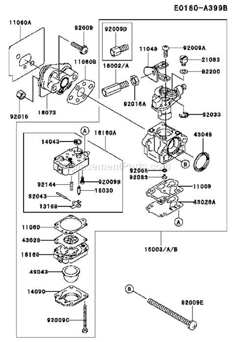 Kawasaki Trimmer Parts by Kawasaki Trimmer Parts Diagram Catalog Auto Parts