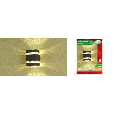applique murale rectangulaire led cob ext 233 rieure 6w ip54 plat finition gris anthracite