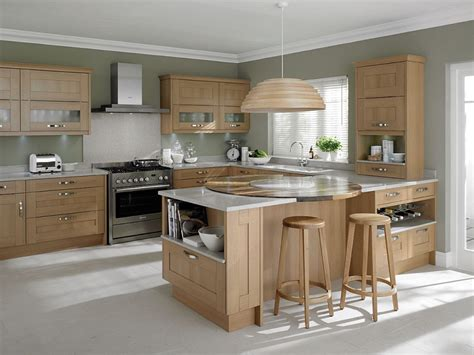awesome light oak wooden kitchen designs light oak
