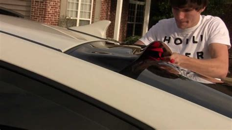 hyundai genesis coupe roof lip spoiler install youtube
