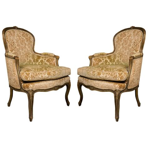 pair of walnut bergere chairs for sale at 1stdibs