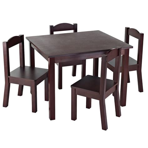 Kidkraft Table And Chair Set Canada by Table 4 Chairs Espresso 76730 In Canada